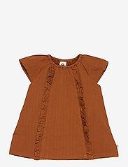 Müsli by Green Cotton - Woven dress - kleider - ocher - 0