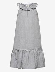 Müsli by Green Cotton - Woven stripe dress - kleider - white/blue stripe - 0