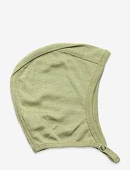 Müsli by Green Cotton - Woolly silk hat baby - huer - moss - 0