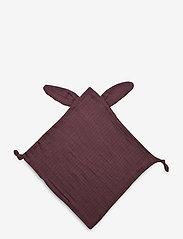 Müsli by Green Cotton - Muslin rabbit blankie - cuddle blankets - flint - 0