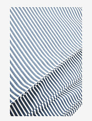 Müsli by Green Cotton - Stripe bed linen adult - koce i kołdry - midnight - 2