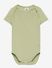 Müsli by Green Cotton - Cozy me s/sl body - kurzärmelige - pale moss - 0