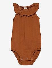 Müsli by Green Cotton - Woven sleeveless body - kurzärmelige - ocher - 0
