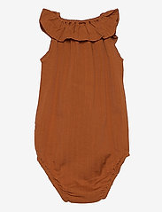 Müsli by Green Cotton - Woven sleeveless body - kurzärmelige - ocher - 1