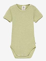 Müsli by Green Cotton - Woolly silk s/s body - kurzärmelige - moss - 0