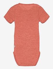 Müsli by Green Cotton - Woolly silk s/s body - kurzärmelige - russet - 1