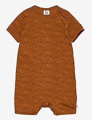 Müsli by Green Cotton - Rhino beach body - kurzärmelig - ocher - 0