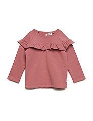 Slub frill shirt - DREAM ROSE