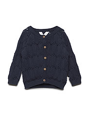 Knit sweater with leaf Baby - NAVY