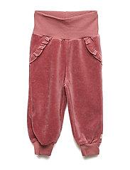 Velvet frill pants - DREAM ROSE