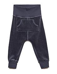 Velvet pocket pants - MIDNIGHT