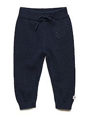 Knit dot pants - NAVY