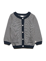 Knit stripe cardigan baby - MIDNIGHT