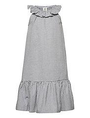 Woven stripe dress - WHITE/BLUE STRIPE