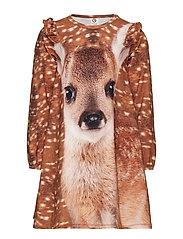 Spicy deer dress - ECRU
