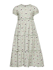 Spicy anemones layer dress - DUSTY GREEN
