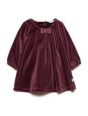 Velvet dress - DARK BERRY