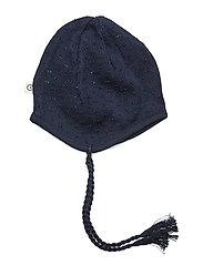 Knit dot hat - NAVY