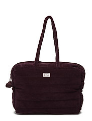 Velvet quilt bag - DARK BERRY