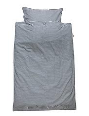 Stripe bed linen baby - MIDNIGHT