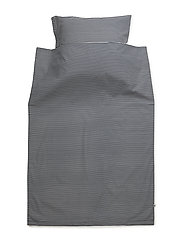 Stripe bed linen adult - NAVY