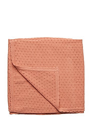 Knit dot blanket - DARK PEACH