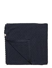 Knit dot blanket - NAVY
