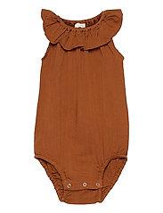 Woven sleeveless body - OCHER