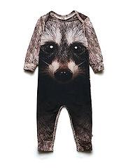 Spicy raccoon bodysuit - ECRU
