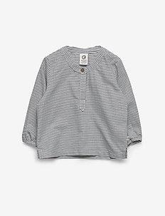 Woven stripe shirt - shirts - white/blue stripe