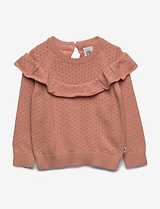 Knit frill shirt - dzianinowe - dream blush