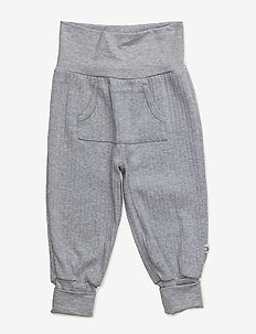 Cozy pocket pants - PALE GREYMARL
