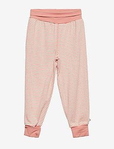 Stripe pants - DARK PEACH