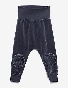 Velvet knee pants - spodnie - midnight