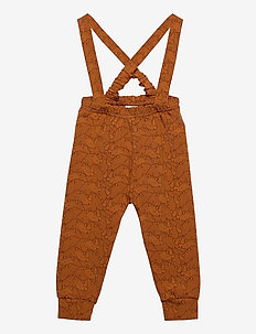 Rhino suspender pants - overalls - ocher