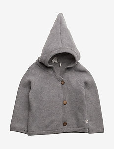Woolly fleece jacket - PALE GREYMARL