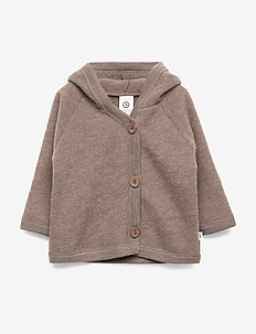 Woolly fleece jacket - WALNUT