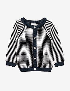 Knit stripe cardigan baby - MIDNIGHT