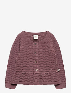 Knit peplum cardigan - kardigany - flint