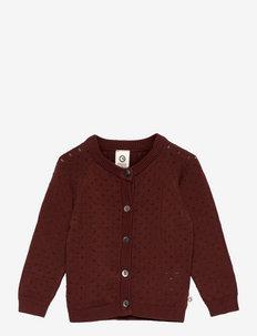 Knit cardigan baby - gilets - fudge