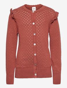 Knit cuff cardigan - gilets - fudge