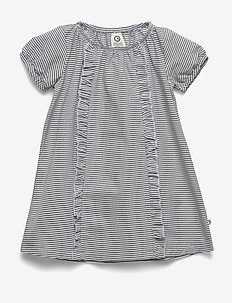 Woven stripe dress - sukienki - white/blue stripe