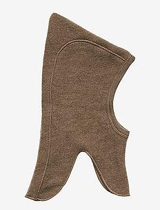 Woolly fleece hat - WALNUT