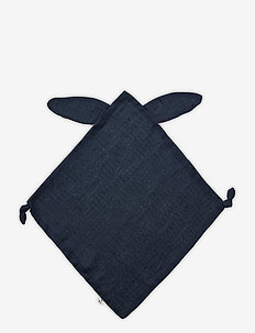 Muslin rabbit blankie - kocyki - midnight