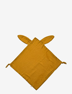 Muslin rabbit blankie - cuddle blankets - wood