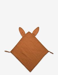 Rabbit blankie - baby toys - ocher