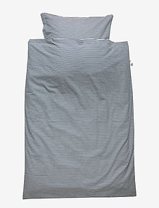 Stripe bed linen junior - beddings - midnight