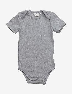 Cozy me s/sl body - short-sleeved - pale greymarl