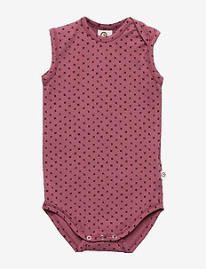 Sleeveless body - DUSTY BERRY CROSS PRINT