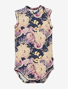 Sleeveless body - ROSE PRINT